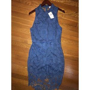 ASTR blue lace dress